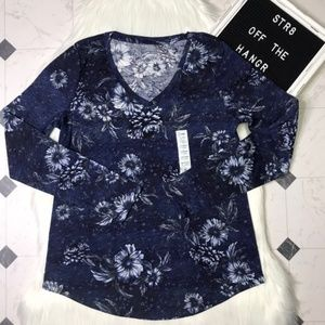 NWT Sonoma floral everyday long sleeve tee size XS